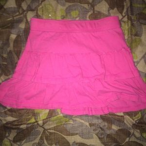 Pink Skirt with Ruffles